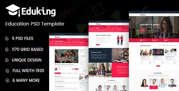 Eduking - Education PSD Template - Miscellaneous Photoshop
