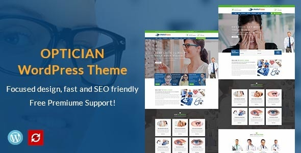 Optometry, Optician & Optics Store WordPress Theme - Health & Beauty Retail