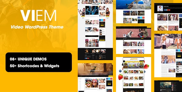 Viem - Video WordPress Theme - Blog / Magazine WordPress