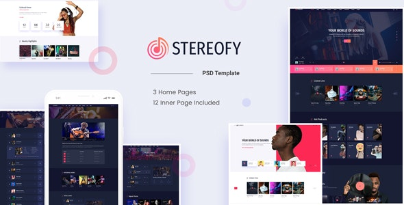 Stereofy - Music and Podcast PSD Template - Miscellaneous Photoshop