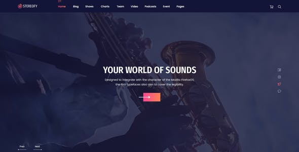 Stereofy - Music and Podcast PSD Template