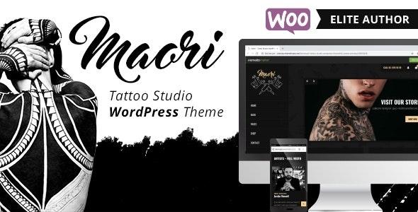 Maori - Tattoo Studio WordPress Theme - Art Creative