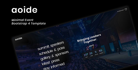 Aoide - Event Bootstrap 4 Template - Events Entertainment