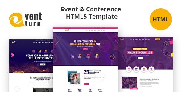 Eventturn - Event and Conference HTML5 Template - Events Entertainment