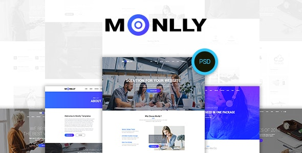 Monlly - Multi-Purpose PSD Template - Photoshop UI Templates