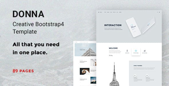 Donna - Multipurpose Bootstrap 4 Template