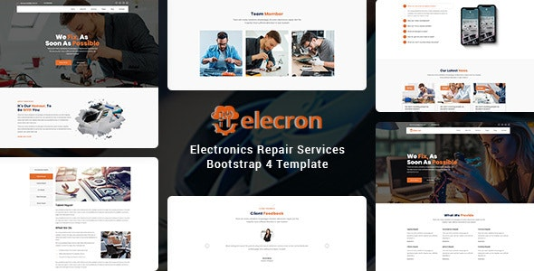 Elecron - Electronics Repair Services Bootstrap 4 Template - Business Corporate