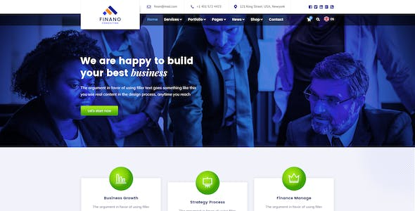 Finano - Business & Consulting PSD