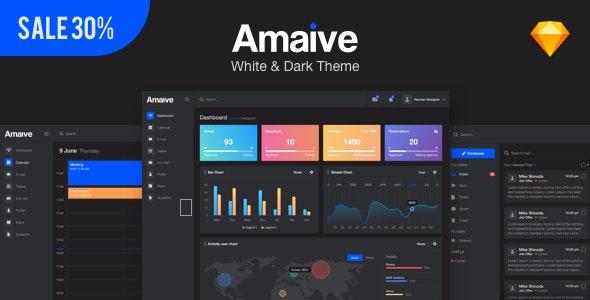 Amaive - Admin Sketch Template - Sketch UI Templates