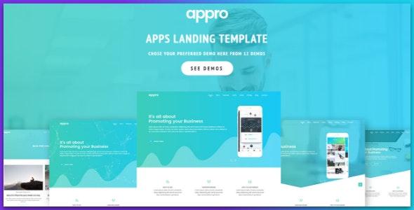 App Landing Page - Technology Site Templates