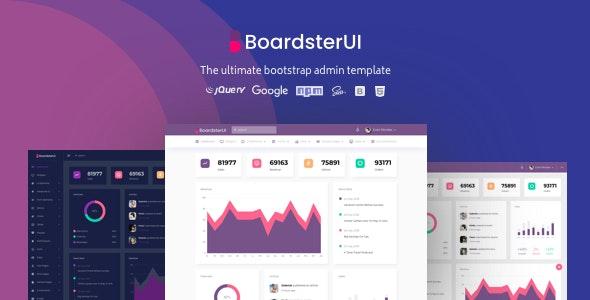 BoardsterUI Bootstrap Admin Dashboard Template - Admin Templates Site Templates