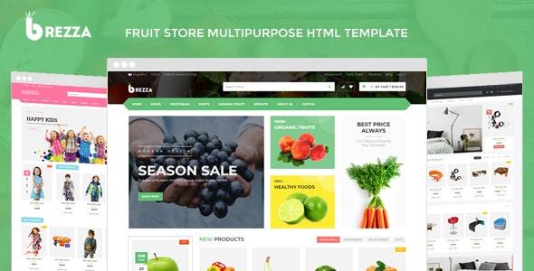 Brezza - Fruit Store Multipurpose HTML Template - Food Retail
