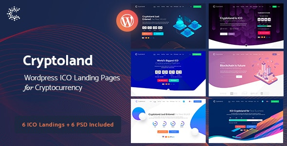 Cryptoland -  ICO Landing Pages WordPress Theme - Software Technology