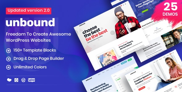 Unbound - Business Agency Multipurpose Theme - Corporate WordPress