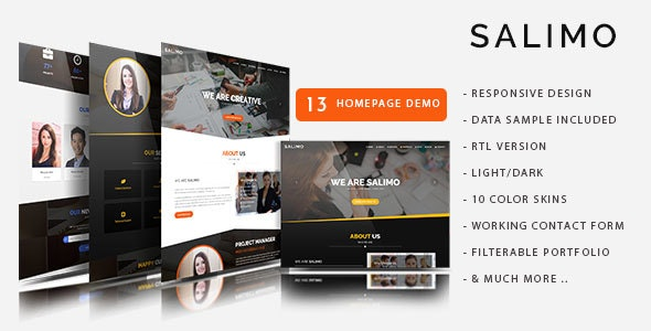 Salimo - One Page Parallax Drupal 8.7 Theme - Business Corporate