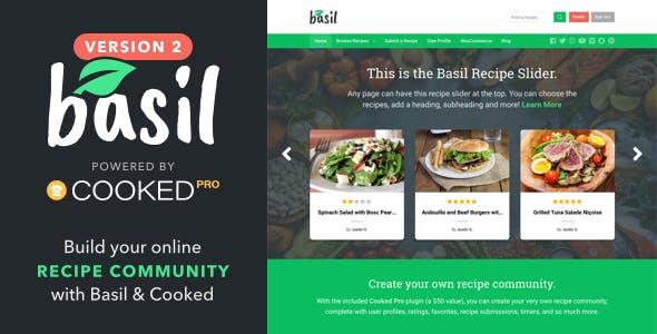 Basil - WordPress Recipes Theme