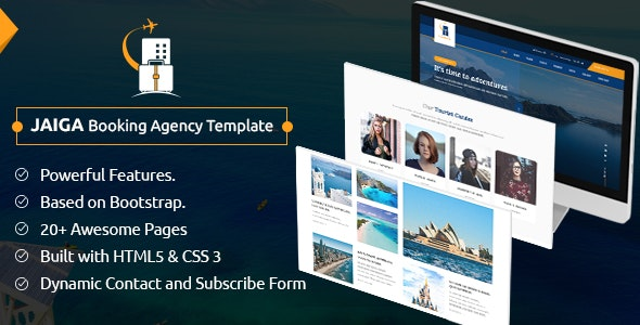 Jaiga - Tour and Travel Booking Agency Template - Travel Retail