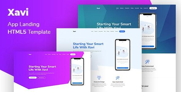Xavi - App Landing HTML5 Template - Software Technology