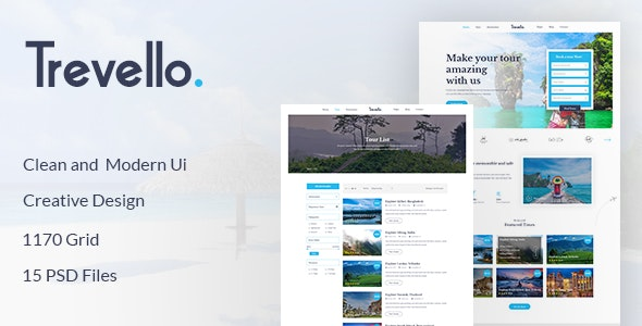 Trevello | Tours and Travel PSD Template - Travel Retail