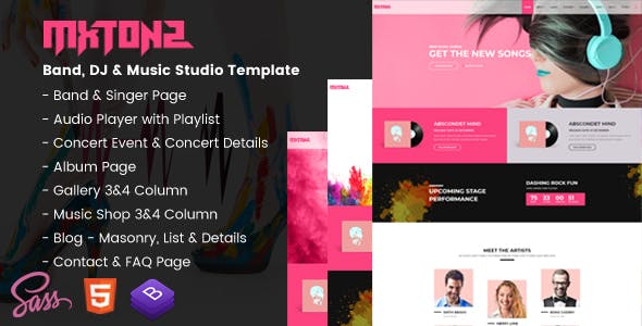 MxTonz - A Fresh Band, DJ & Music Studio Template