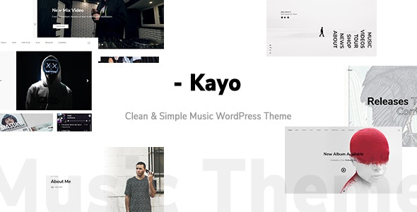 Kayo - Clean and Simple Music WordPress Theme - Music and Bands Entertainment