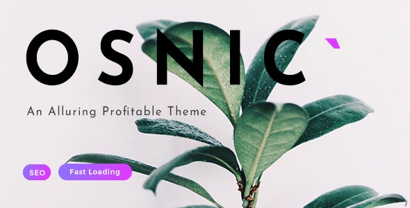 Osnic - AD Optimized Blog/Magazine Theme for Adsense & Affiliate - Blog / Magazine WordPress