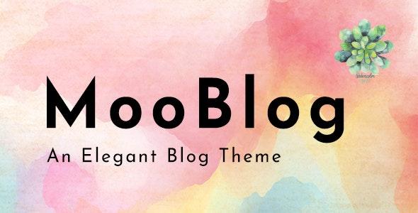 MooBlog -  Elegant Blog - Personal Blog / Magazine