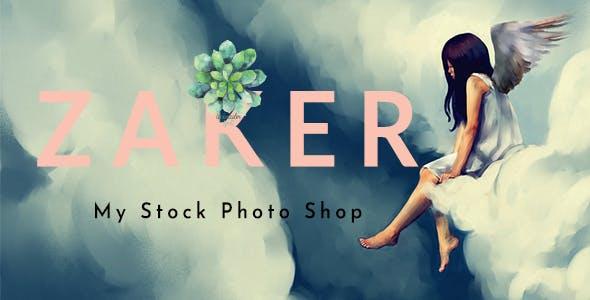 Zaker - Minimal Photography Portfolio