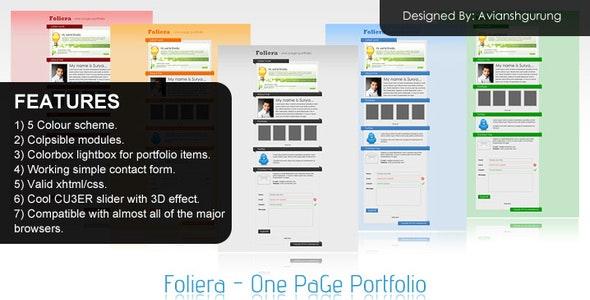 Foliera - One Page Portfolio - Portfolio Creative