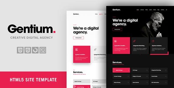 Gentium – A Creative Digital & Marketing Agency OnePage Template