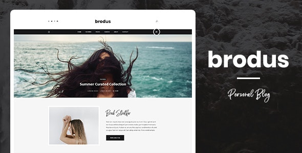 Brodus - Personal Blog PSD Template - Personal Photoshop