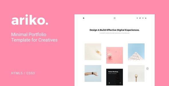 Ariko - Minimal Portfolio Template for Creatives - Portfolio Creative