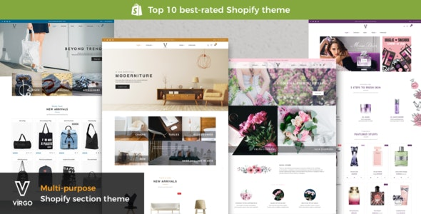 Virgo - Shopify Furniture, Accessories, Bouquet, Beauty, Multipurpose theme - Miscellaneous Shopify