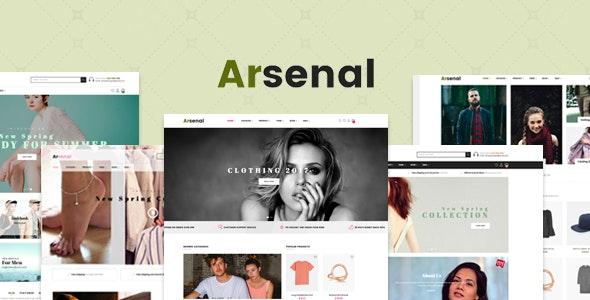 Arsenal Fashion Responsive PrestaShop 1.7.6 Theme - Fashion PrestaShop