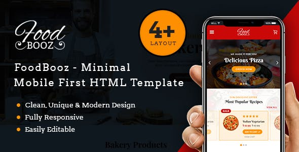 Food Delivery eCommerce Website Templates from ThemeForest