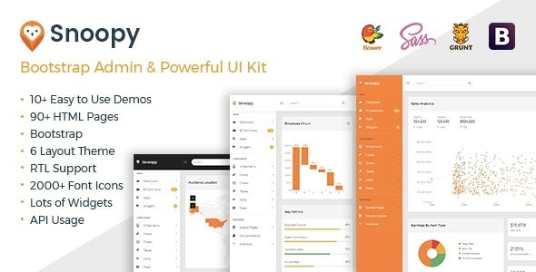 Snoopy - Multipurpose Bootstrap Admin Dashboard Template +