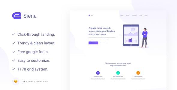 Siena - Marketing Landing Page Template