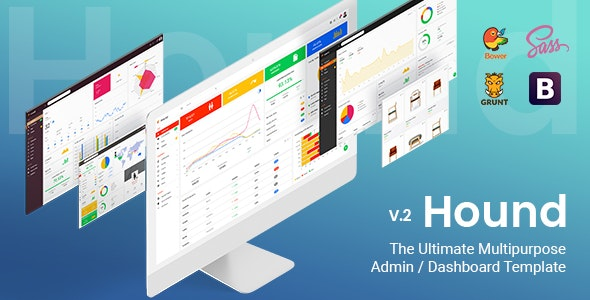 Hound - The Ultimate Multipurpose Admin Template - Admin Templates Site Templates