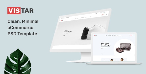 Vistar - Clean, Minimal eCommerce PSD Template - Shopping Retail