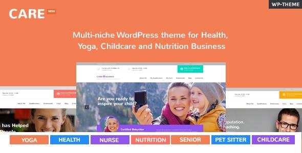Care – Multi-niche WordPress theme for Health, Yoga, Childcare and Nutrition Business