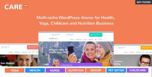 Care – Multi-Niche WordPress Theme for Small Business - Business Corporate