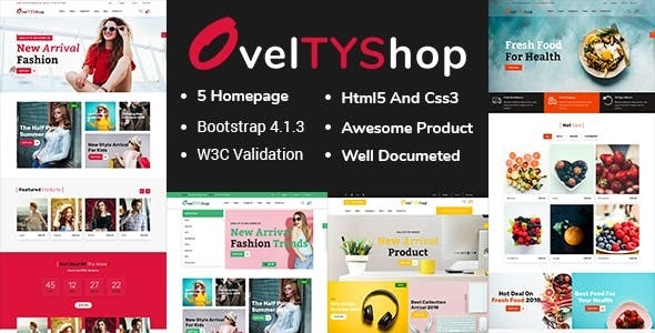 Oveltyshop - ECommerce Responsive Sectioned Drag & Drop Shopify Theme - Shopify eCommerce
