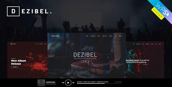 Dezibel - Music Band & Musician WordPress Theme - Music and Bands Entertainment