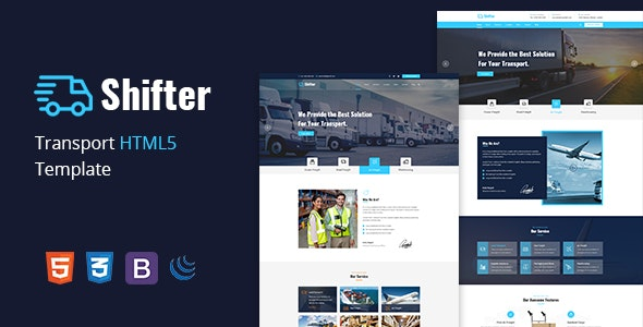 Shifter –  Transport & Logistic HTML Template - Business Corporate