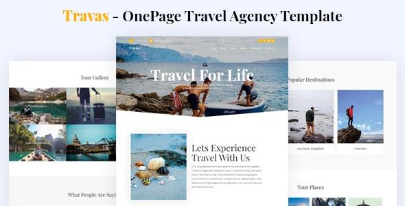 Travas - OnePage Travel Agency Template - Travel Retail