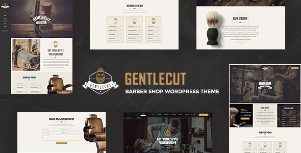Gentlecut - Hair Salon and Barbershop WordPress Theme - Fashion Retail