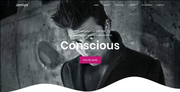 Jamiya-One Page Portfolio Template - Portfolio Creative