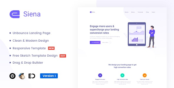 Siena - Marketing Unbounce Landing Page Template - Unbounce Landing Pages Marketing