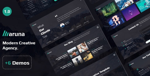 Aruna - Creative Template for Agency and Portfolio - Portfolio Creative