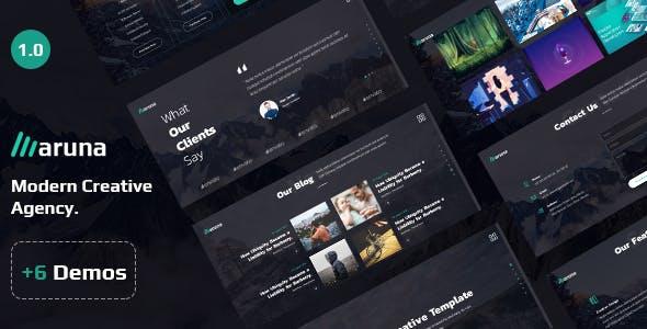 Aruna - Creative Template for Agency and Portfolio